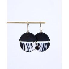 Circle polymerclay earrings