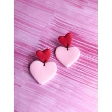 Hanging heart Earrings