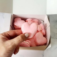 Heart Shaped Macarons - Box of 10