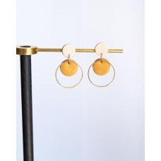 Gorgeous handmade brown hoop