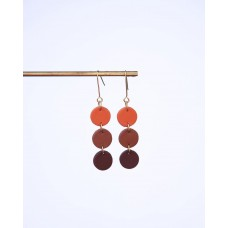Polymerclay 3 Circle Earrings